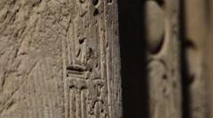 Ancient Egyptian hieroglyphics - stock footage