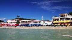 Saint Martin resort Stock Footage