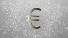 Background of different currencies symbols rotating around a euro sign currency Stock Footage