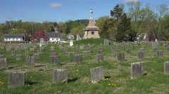 Fredericksburg Virginia Confederate cemetery graves monument 4K 008 Stock Footage