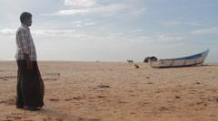 Indian beach scene Stock Footage