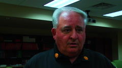 Fire Chief Dan Cotten, Louisiana - stock footage