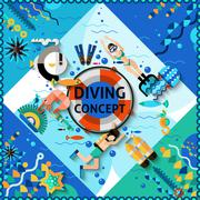 Scuba Diving Concept Piirros
