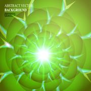 Green smooth twist light lines vector background. Eps 10 Stock Illustration
