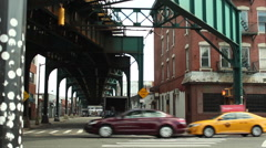 Urban traffic in Queens, NYC Stock Footage