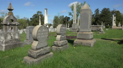 Fredericksburg Virginia Confederate cemetery headstones 4K 005 Stock Footage