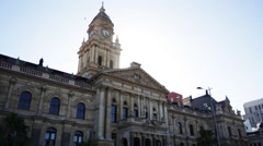 Cape Town City Hall during sunset Stock Footage
