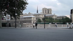 Notre-Dame Catherdral Stock Footage