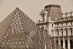 France, Paris, Tuileries Garden, Jardin des Tuileries, Louvre Art Museum Kuvituskuvat
