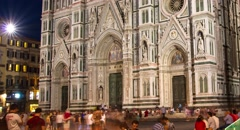 Cathedral Italy Florence Architecture Church Old Tuscany Italian Travel Landmark Stock Footage