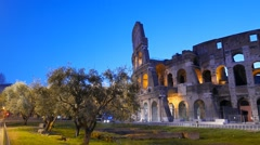 Colosseo at dawn. Rome, Italy Stock Footage