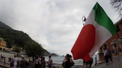Italian flag Stock Footage