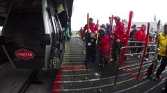 Ski lift time lapse 4K Stock Footage