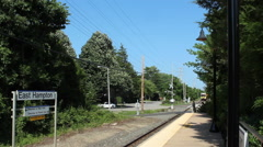 East Hampton train - stock footage