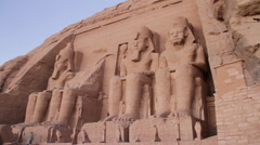 Temple of Ramesses II Stock Footage