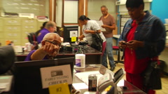 Citizens register to vote Stock Footage