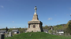 Fredericksburg Virginia Confederate cemetery monument to dead 4K 011 Stock Footage