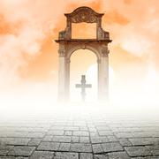 Cross and the light Stock Illustration