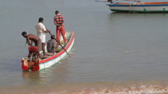 Fishing boats in India Stock Footage