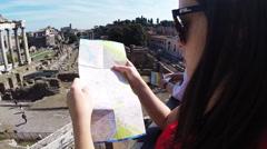 Roman Forum in Italy - stock footage