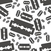 razor blade seamless pattern - stock illustration