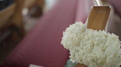 Church flowers - stock footage