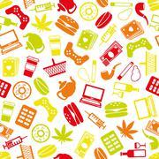Stock Illustration of addiction seamless pattern
