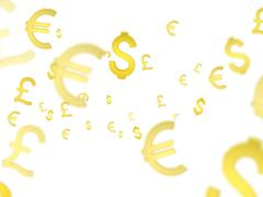 Currency symbols Stock Illustration