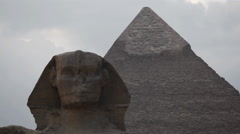 The Great Sphinx of Giza Stock Footage