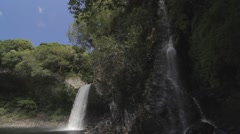 Waterfall,Ile de la Reunion Stock Footage