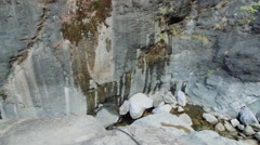 Gorge with waterfall, Ile de la Reunion - stock footage