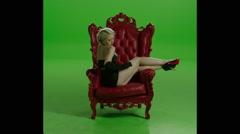 Lavish Girl Sitting Stock Footage