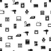 home appliance seamless pattern - stock illustration