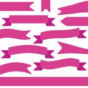 set of violet ribbons - stock illustration