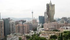 View of the residential areas with apartment houses Macao Stock Footage