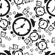 alarm clock seamless pattern - stock illustration