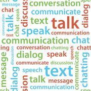 communication text seamless pattern - stock illustration