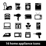 home appliance icons - stock illustration