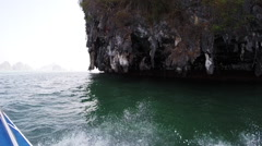 Thailand boat ride Stock Footage