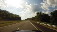 Driving in Tennessee Stock Footage