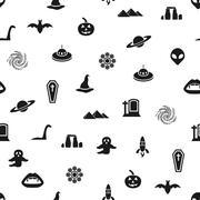 Mystic seamless pattern Stock Illustration