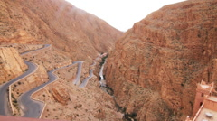 Mountain Pass road in Morocco Stock Footage