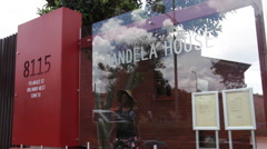 'Mandela House' exterior Stock Footage