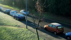 Frosty day in England - stock footage