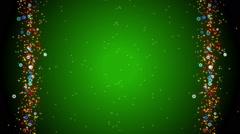 Green background, frame, loop Stock Footage