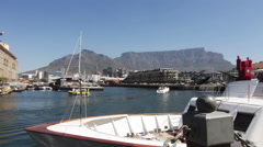 Small marina in South Africa Stock Footage