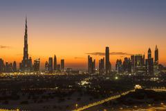 Dubai skyline, the Burj Khalifa, modern architecture and skyscrapers on Sheikh Kuvituskuvat