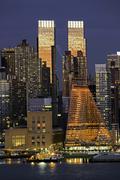 Midtown Manhattan across the Hudson River, New York, United States of America, Stock Photos