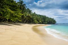 Banana beach, UNESCO Biosphere Reserve, Principe, Sao Tome and Principe, Stock Photos