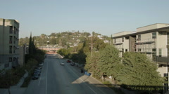 Silverlake, Los Angeles apartments and development - stock footage